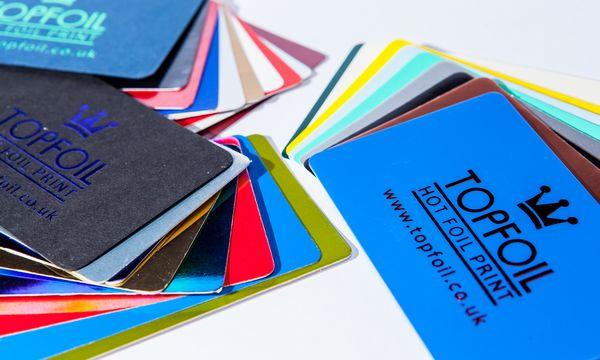 Foil printed business and membership cards topfoil full colour project name reheart Images